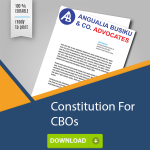 CONSTITUTION FOR COMMUNITY BASED ORGANISATION CBO - CONSTITUTION FOR COMMUNITY BASED ORGANISATION (CBO) - Angualia Busiku & Co. Advocates
