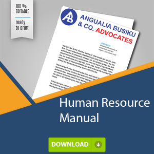HUMAN RESOURCE MANUAL OR POLICY