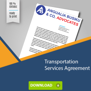 Transportation Services Agreement - TRANSPORTATION SERVICES AGREEMENT - Angualia Busiku & Co. Advocates